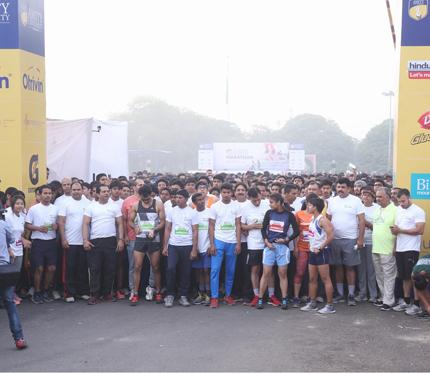 Glimpse of Amity Gurgaon Half Marathon 2016