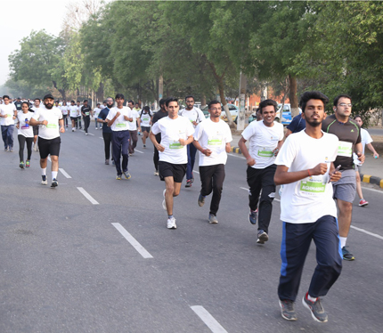 Glimpse of Amity Gurgaon Half Marathon 2016