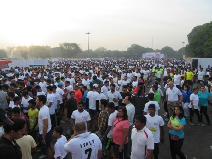 Glimpse of Amity Gurgaon Half Marathon