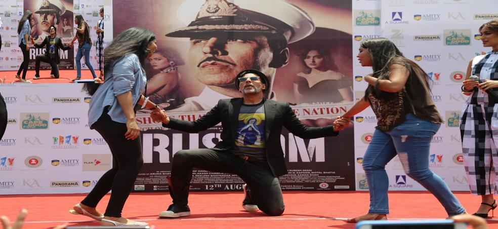 Star Cast of Rustom at Amity University Gurgaon