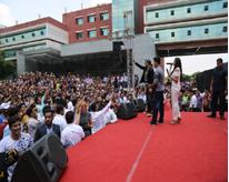 Star Cast of Rustom at Amity University Gurgaon