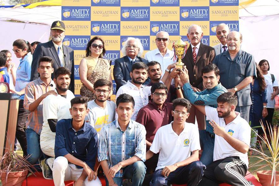Amity law school has  won the Sangthan trophy 2016