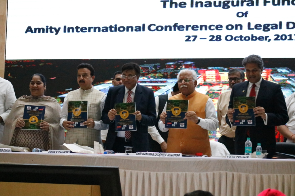 Inaugural Function of Amity International Conference on Legal Dimensions of Environment.