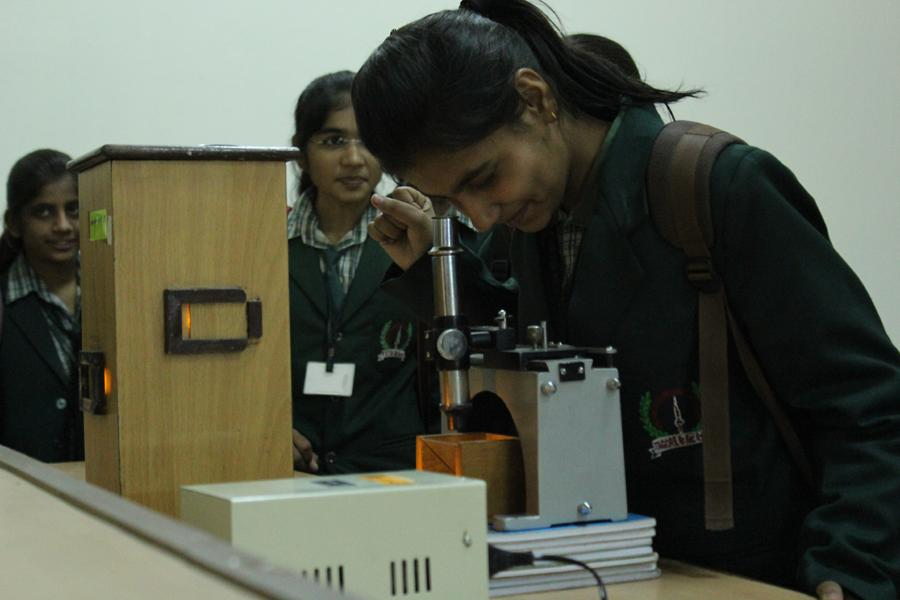 Student Doing Experiment