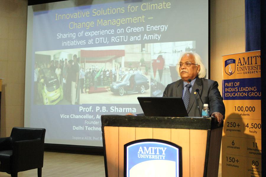 Session on Innovative solution to combat climate change & Air quality degradation by Prof(Dr) P B Sharma, Vice Chancellor