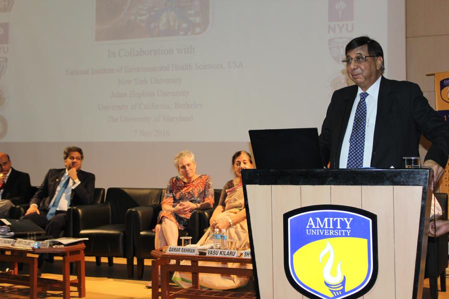 Hon'ble Founder President Dr. Ashok K. Chauhan Addressing the Scientists and Students at the Symposium.