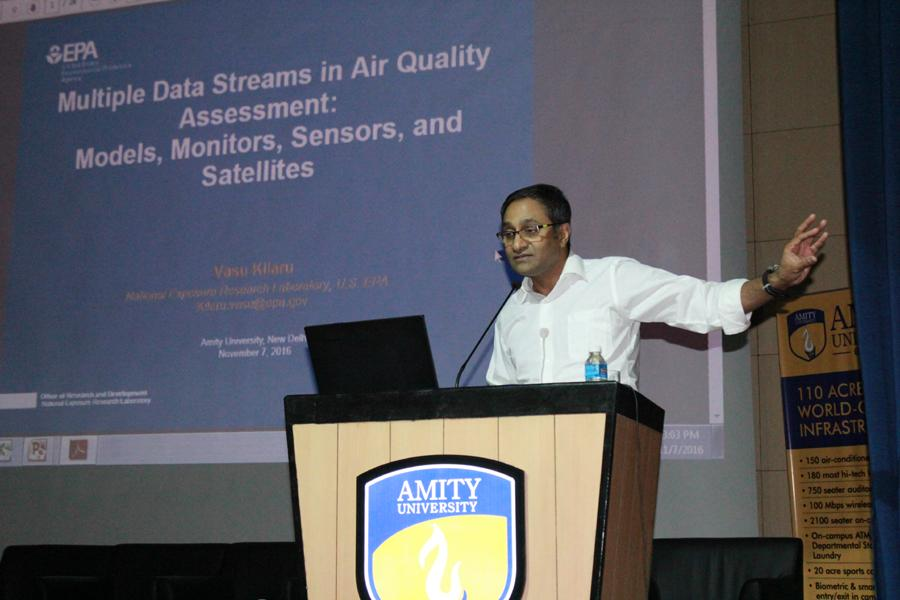 Vasu Kilaru, US-EPA delivering his talk.